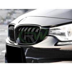 BMW M3 | M4 [F80 F82 F83] Atrapa chłodnicy - czarny połysk